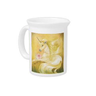 The Dreamy Golden Unicorn Drink Pitcher
