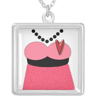 The Dress CUSTOM COLOR DESIGN! Silver Plated Necklace