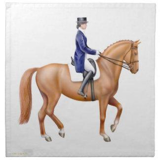 The Dressage Horse Equestrian Napkin