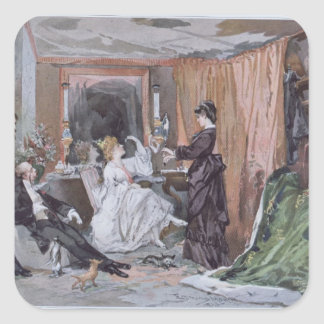 The Dressing Room of Hortense Schneider Square Sticker