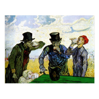 The Drinkers by Vincent van Gogh 1890 Postcard