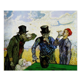 The Drinkers by Vincent van Gogh 1890 Poster