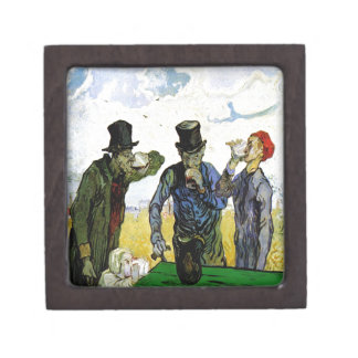 The Drinkers by Vincent van Gogh 1890 Premium Jewelry Box