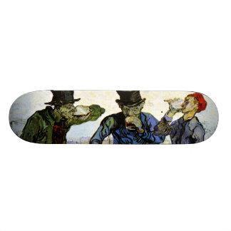 The Drinkers by Vincent van Gogh 1890 Skateboard Deck