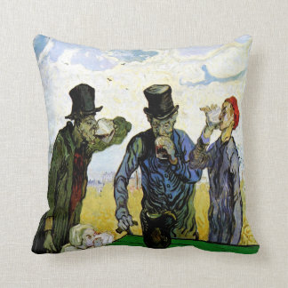 The Drinkers by Vincent van Gogh 1890 Throw Pillow