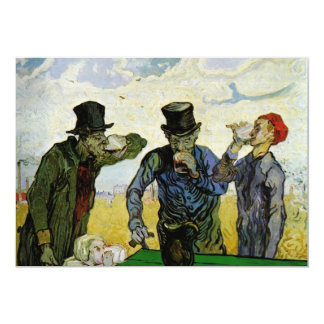 The Drinkers by Vincent van Gogh Card