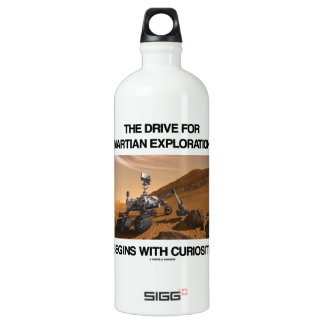 The Drive For Martian Exploration Begins Curiosity Aluminum Water Bottle