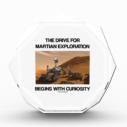 The Drive For Martian Exploration Begins Curiosity Acrylic Award