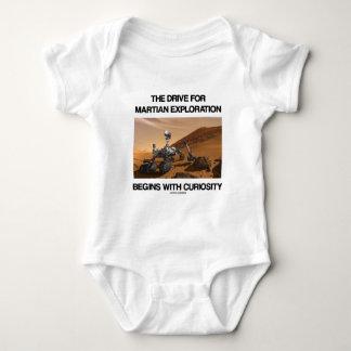 The Drive For Martian Exploration Begins Curiosity Baby Bodysuit