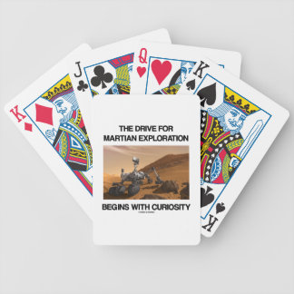 The Drive For Martian Exploration Begins Curiosity Bicycle Playing Cards
