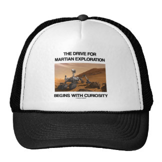 The Drive For Martian Exploration Begins Curiosity Mesh Hats