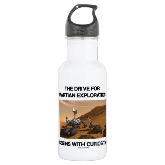The Drive For Martian Exploration Begins Curiosity Stainless Steel Water Bottle