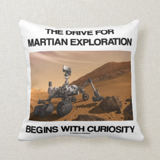 The Drive For Martian Exploration Begins Curiosity Throw Pillow