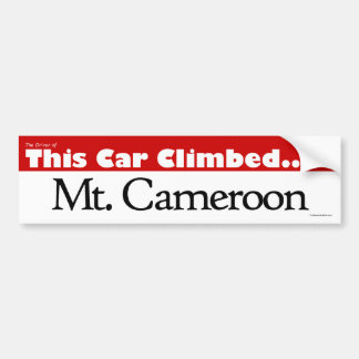 The Driver of This Car Climbed Mt. Cameroon Bumper Sticker