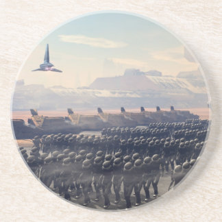 the droid army drink coaster