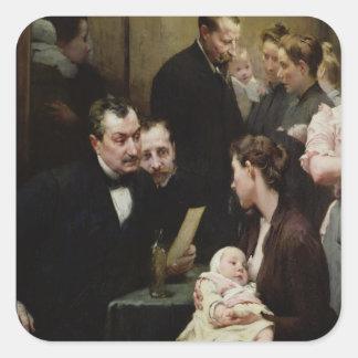 The Drop of Milk in Belleville: Doctor Variot's Square Sticker
