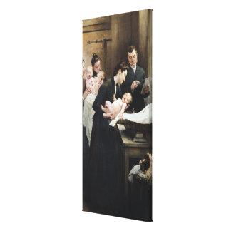 The Drop of Milk in BellevilleDoctor Variot's Stretched Canvas Print