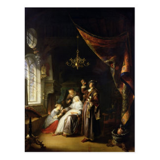 The Dropsical Woman, c.1663 Postcard