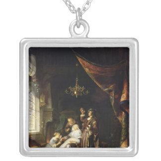The Dropsical Woman, c.1663 Square Pendant Necklace