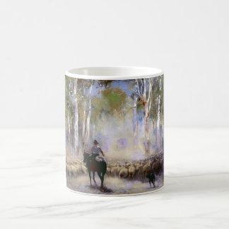 The Drover Classic White Coffee Mug