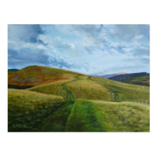 """The Drovers Road"" oil Northumberland Cheviots Post Cards"