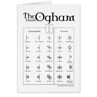 The Druid Ogham Card