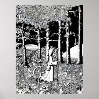 The Druids walk - poster print