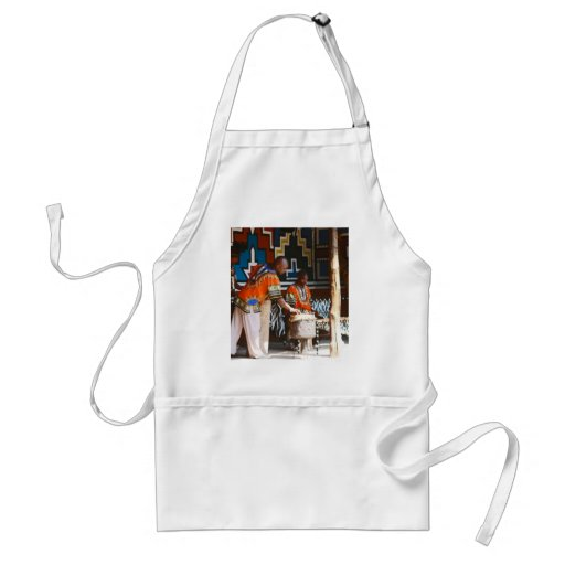 The Drum Beats Of Africa Adult Apron