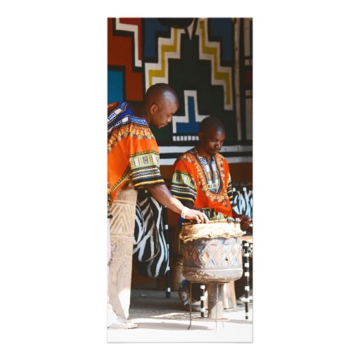 The Drum Beats Of Africa Customized Rack Card