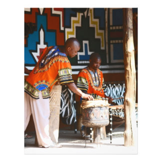 The Drum Beats Of Africa Flyer