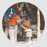 The Drum Beats Of Africa Stickers