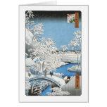 The Drum Bridge, Hiroshige, 1856-58 Cards