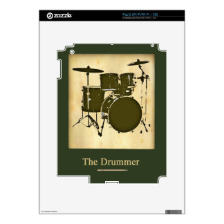 the drummer of the band iPad 2 decal