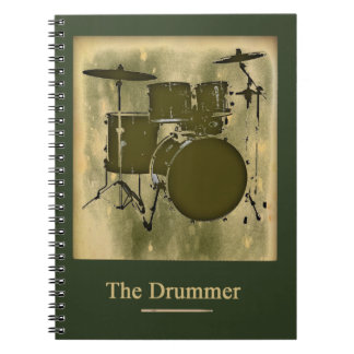 the drummer of the band spiral notebook