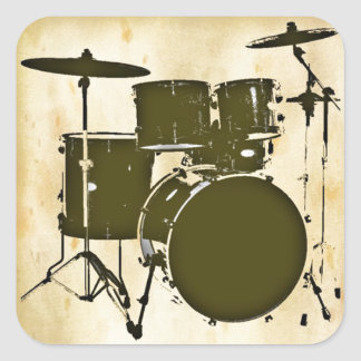 the drummer of the band square sticker