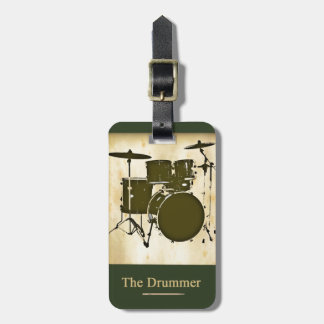 the drummer of the band tag for luggage