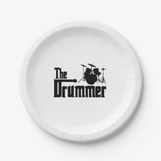 The Drummer Paper Plate