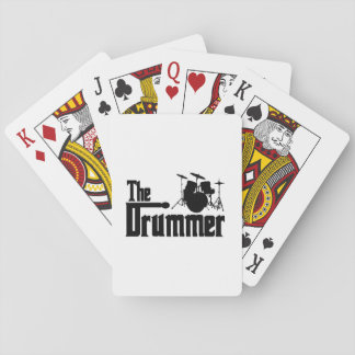 The Drummer Poker Cards