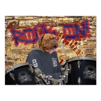 The drummer postcard