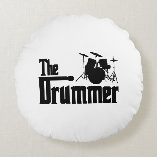 The Drummer Round Pillow