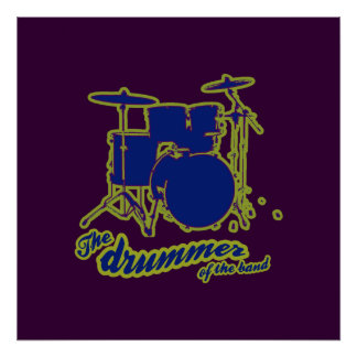 the drummer wall poster
