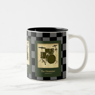 the drummers .  checkers mugs