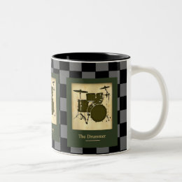 the drummers .  checkers Two-Tone coffee mug