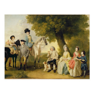 The Drummond Family, c.1769 (oil on canvas) Postcard
