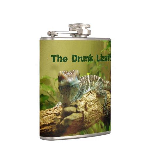 The Drunk Lizard Drinking Flask Zazzle