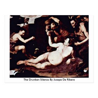 The Drunken Silenos By Jusepe De Ribera Postcard