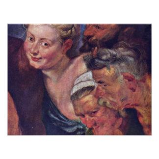 The Drunken Silenus Detail By Rubens Peter Paul Custom Announcements