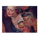 The Drunken Silenus Detail By Rubens Peter Paul Post Card