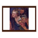 The Drunken Silenus Detail By Rubens Peter Paul Postcard