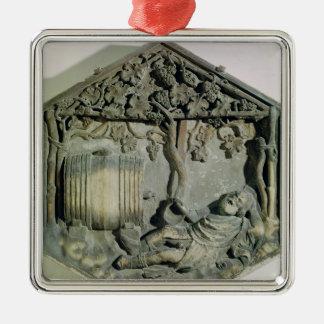 The Drunkenness of Noah, hexagonal decorative Metal Ornament